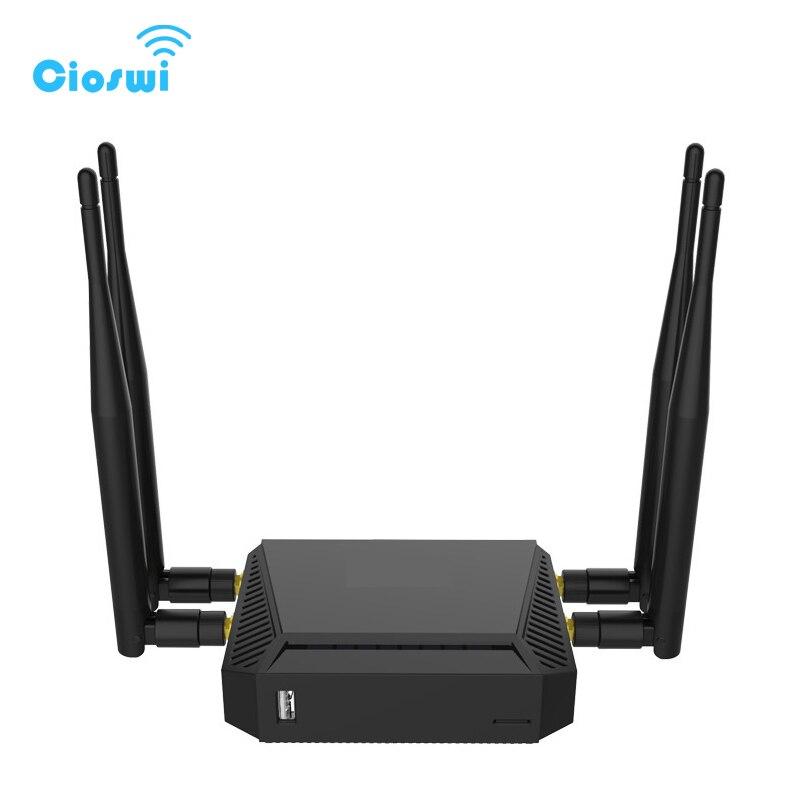 Routeur 3G 4G WiFi Modem Avec Fente Pour Carte SIM Anglais Version 2.4G/5 GHz 128 MB mémoire LTE OpenWrt Sans Fil Routeurs