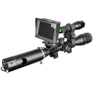 Image 2 - 850nm infrarrojo DIY dispositivo de visión nocturna mira día noche al aire libre doble uso pantalla LCD y linterna láser y camuflaje cinta