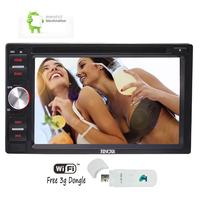 2 din Car DVD Player Android 6.0 Car Stereo GPS WIFI/Bluetooth/External Mic/fm/am Radio Receiver/Mirrorlink/OBD2/3G Dongle