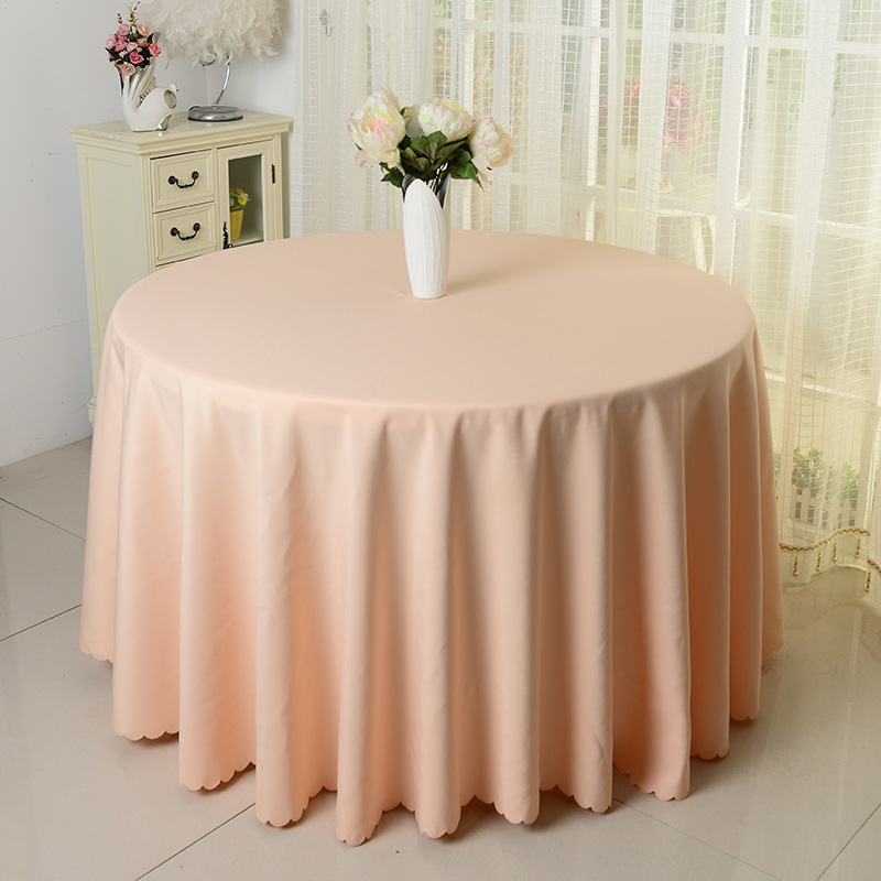 10pcs Champagne 100 Polyester Visa Round Table Cloths