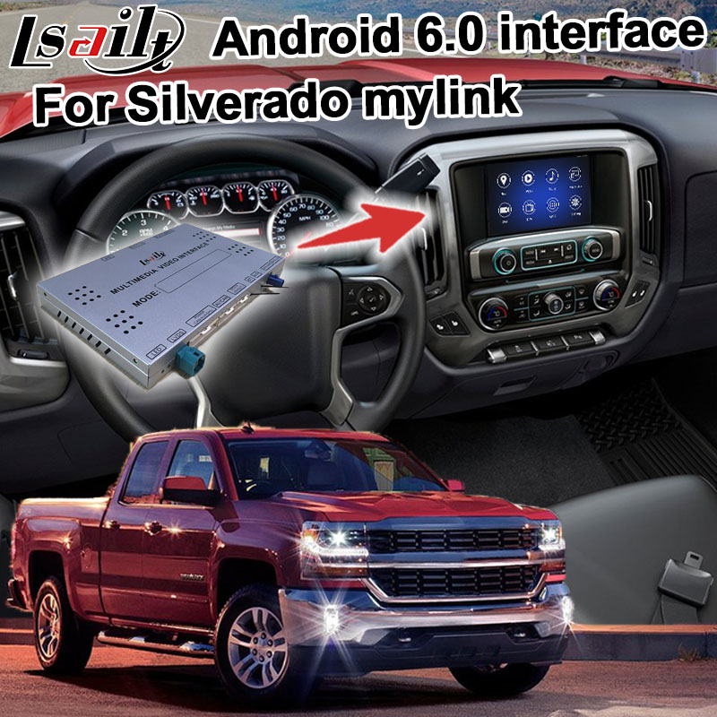 US $550 0 |Android navigation box for Chevrolet Silverado 2014 Mylink  system video interface with carplay GPS waze yandex youtube-in Vehicle GPS  from