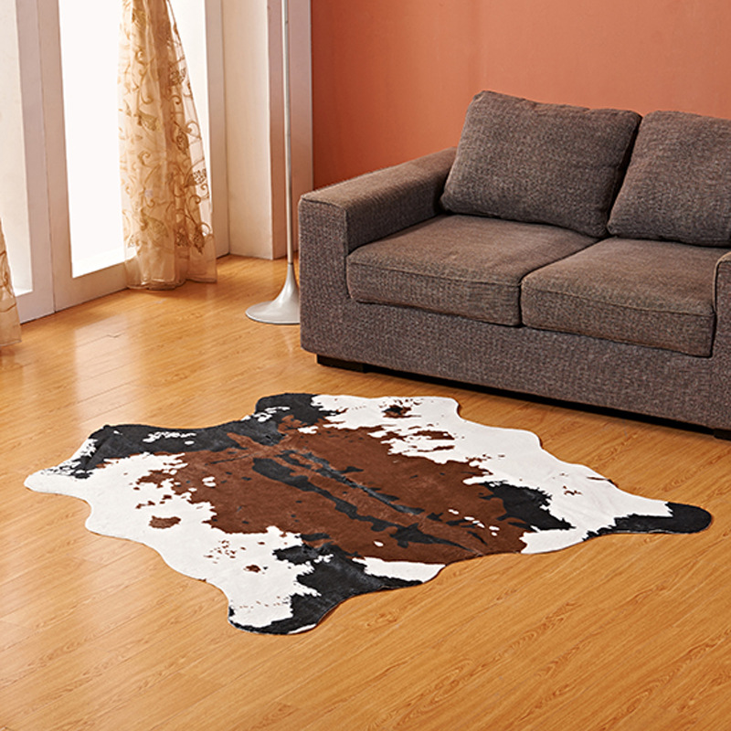 Chambre salon tapis grande Imitation peau d'animal zèbre laitier tapis chambre tapis 140*160 cm salon extérieur