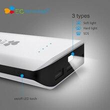 Banco de Potência Inteligente com LUZ 18650 Tecnologia CE Powerbank 20000 MAH de Alta Capacidade Portátil Carregador Batterie Externe Telefone LED