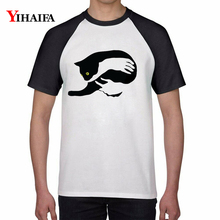 Men Women Funny T Shirts Embrace Cat 3D Print Animal Graphic Tees Casual Couple Tee Cotton Short Sleeve Unisex Tops