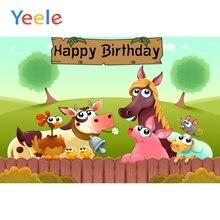 Yeele Cartoon Birthday Background Poster Celebrating Party Baby Newborn Photography Scene Photographic Backdrop For Photo Studio
