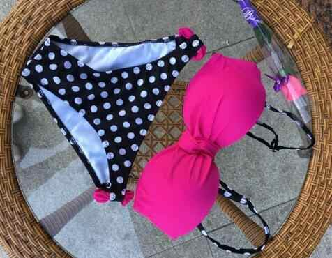Pakaian Renang 2019 Seksi Bikini Push Up Baju Renang Wanita Baju Renang Pita Pengikat Rambut Pantai Pakaian Brasil Plus Ukuran Bikini Set Biquini