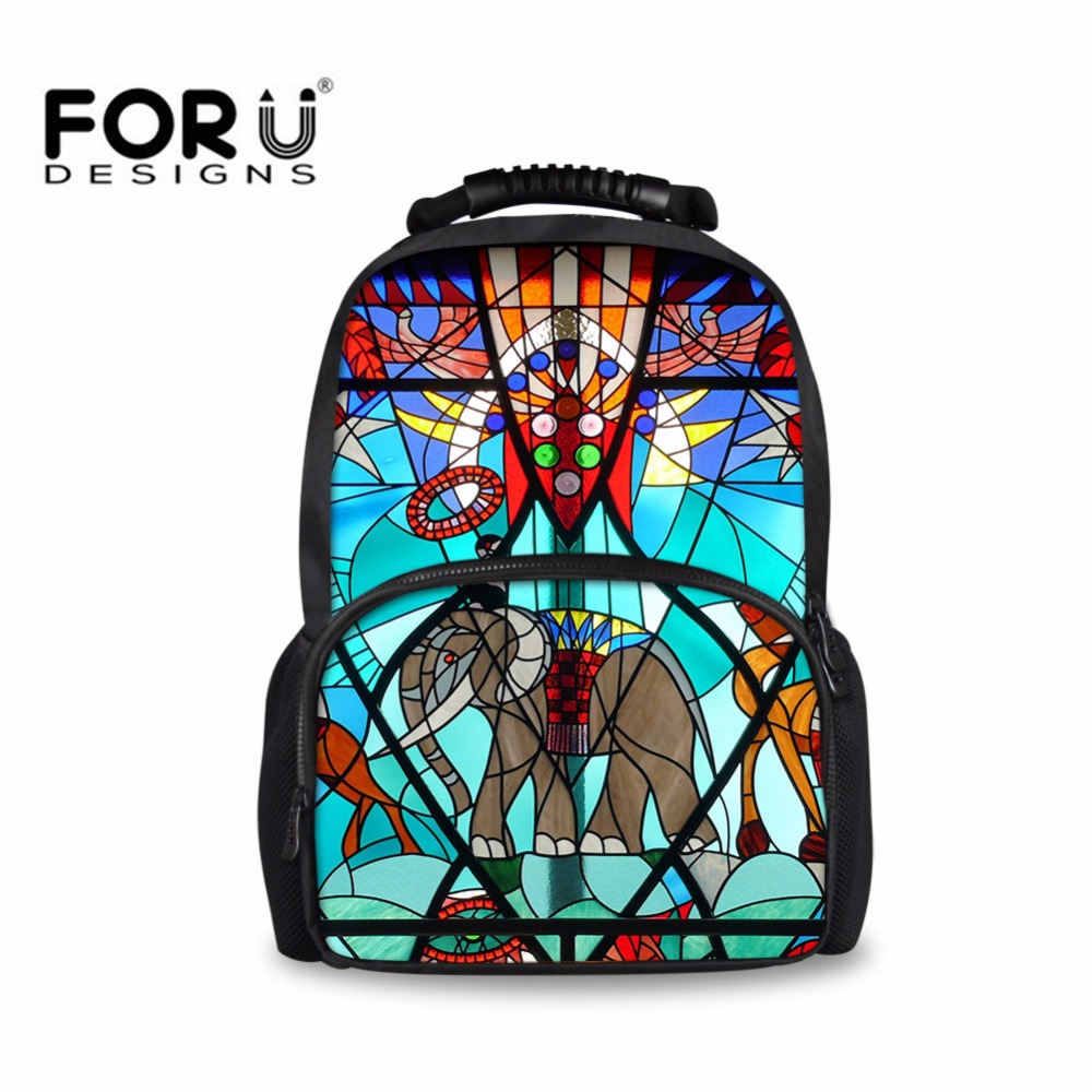 FORUDESIGNS Elephant Men Backpack Cool Large Knapsacks Portfolios for Schools Book Bag Boys Girls Mochila Vintage Back Pack Hot