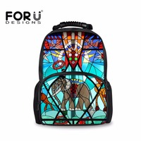 FORUDESIGNS Elephant Men Backpack Cool Large Knapsacks Portfolios For Schools Book Bag Boys Girls Mochila Vintage