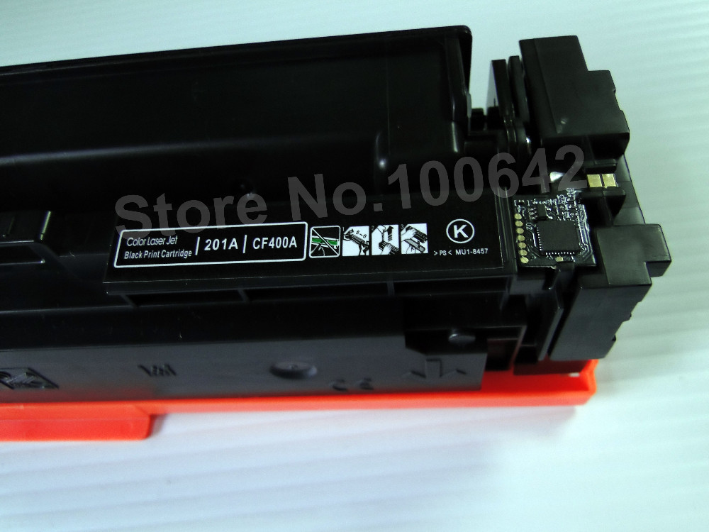 ФОТО Color toner cartridge CF400A CF401A CF402A CF403A for HP Laserjet Pro M252dw M277dw M277n