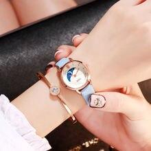 Simple small Polygonal dial women white blue luxury brand quartz female clock retro watches vintage leather ladies wristwatches