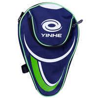 Yinhe galaxy tênis de mesa saco + 2 pçs película protetora protetor 1x borda lateral fita ping pong caso conjunto acessórios