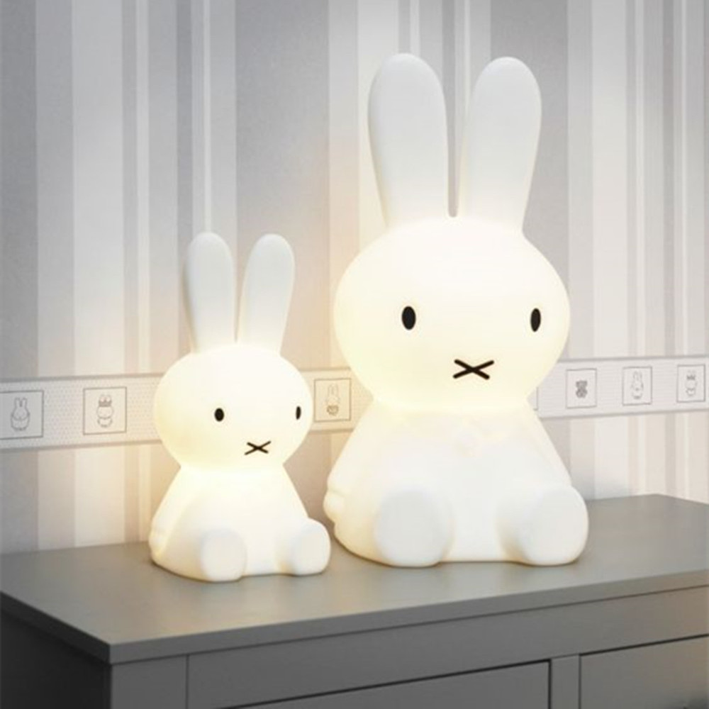 Baby bedroom feeding lamp rabbit 30/50/80cm big Night light Anti-fall Christmas Gift Bedside Decoration Kids Lovely desk Lights ins hot cute rabbit lighting rabbit child room decoration lamp korean style baby accompany night light free shipping