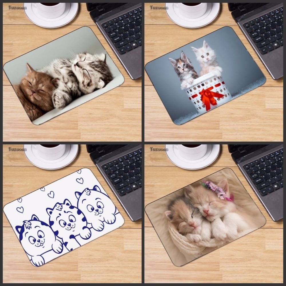 Yuzuoan милый сон кот Картина противоскользящие ноутбука PC Мыши Мат Мышь колодки для оп ...