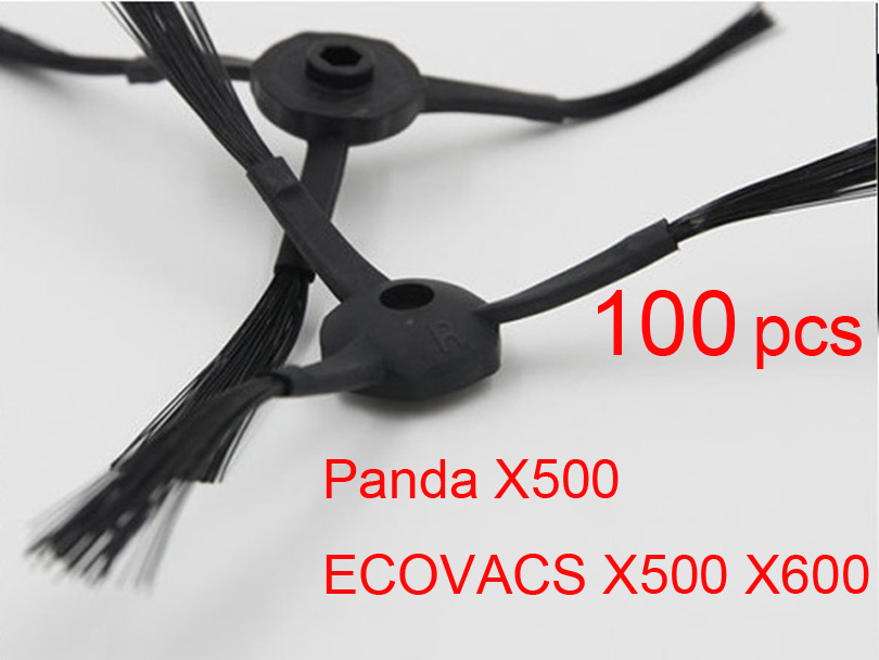 Wholesale 100 pcs side Brushes (50 L+ 50 R) for Dibea Depoo Panda X500 ECOVACS X500 X600 CR120 Panda Robot vacuum cleaner(China)