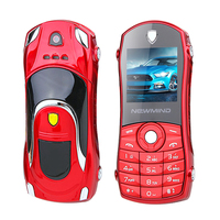 قطع صغيرة الحجم طالب الأطفال لعبة لعبة صغيرة رياضة السيارات مفتاح شكل palmchat gprs sos نموذج الهاتف المحمول السوداء p042