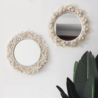 Macrame Wall Hanging Tapestry Decorations Bohemia Handcraft wall tapestry farmhouse Background decor