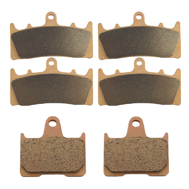 Motorcycle Parts Copper Based Sintered Motor Front & Rear Brake Pads For Suzuki GSXR1000 GSXR 1000 2001-2002 Brake Disk sintered copper motorcycle parts fa252 front brake pads for yamaha fzs 600 fazer 98 03