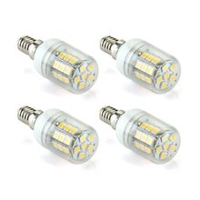 4 x 6W E14 30 LED 5050 SMD Ampoule Lampe Spot Bulb Blanc Chaud AC 220-240V
