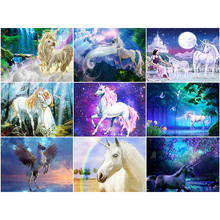 Oly 5D Diamond Painting fantasy horse Full Round Mosaic Cartoon Pony Rhinestone Picture Embroidery Sale Home Decor