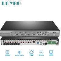 Видеонаблюдения 32ch Гибридный HD AHD DVR NVR 1080 P 720 1080N цифрового видео Регистраторы 32 канала сети для ip камера AHD системы
