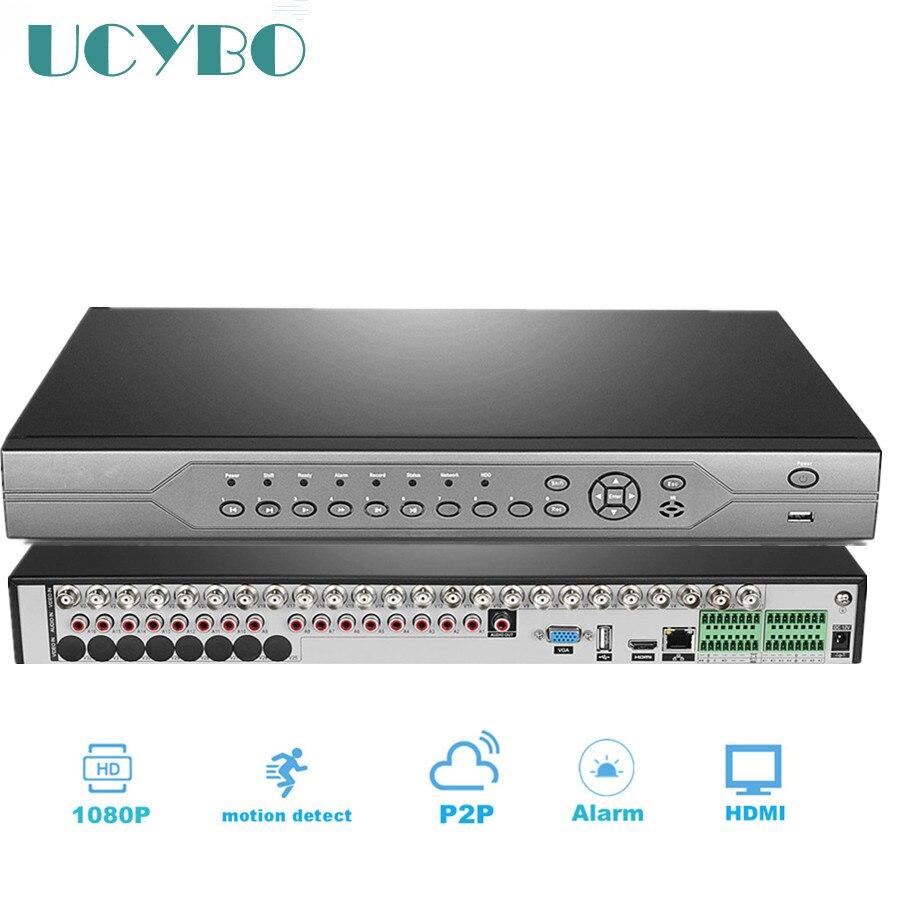 Видеонаблюдения 32ch Гибридный HD AHD DVR nvr 1080 P 720 P 1080N цифровой видео регистраторы 32 канала сети для ip камера системы