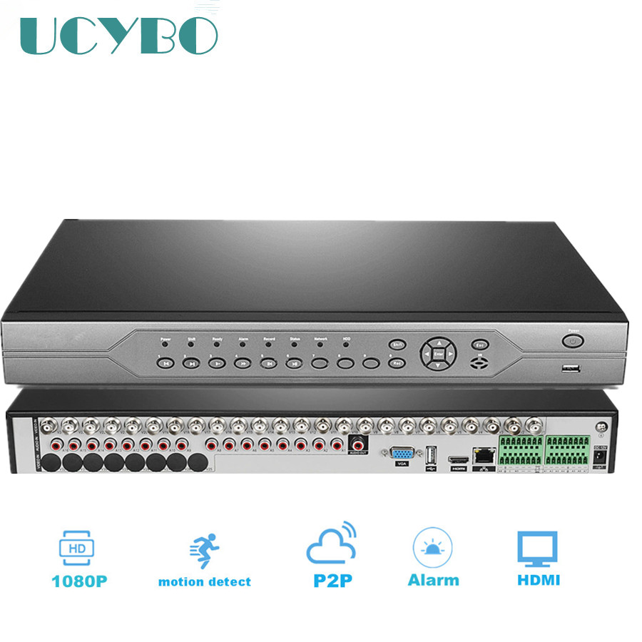 CCTV Security 32ch Hybrid HD AHD DVR nvr 1080P 720P 1080N Digital Video Recorder 32 channel Network for ip ahd camera system цена 2017