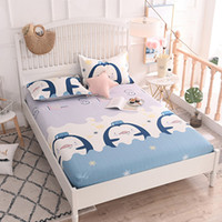 Fitted Sheet Bed Sheet Mattress Cover Polyester Plain Printed Sanding Fabric With Elastic Band Dust Proof