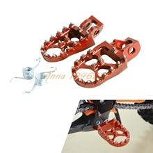 57 мм Заготовки Широкий ЧПУ Подножки Подножки Для KTM 125/150SX 250-450 SX-F и XCF модели 2016 125-500 для всех моделей 2017