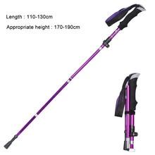 Portable Telescopic 5 Sections Hiking Trekking Trail Ultralight Crutch Aluminum Alloy Folding Cane Walking Sticks