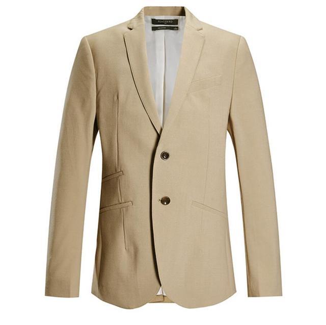 Красивый мужской костюм куртка пользовательские качества хаки свадебные жениха лучший мужчина костюм лацкане пиджака стиль мужская костюм куртка