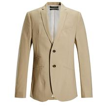 Handsome men's suit jacket quality custom khaki wedding the groom's best man suit jacket lapel style men's suit jacket