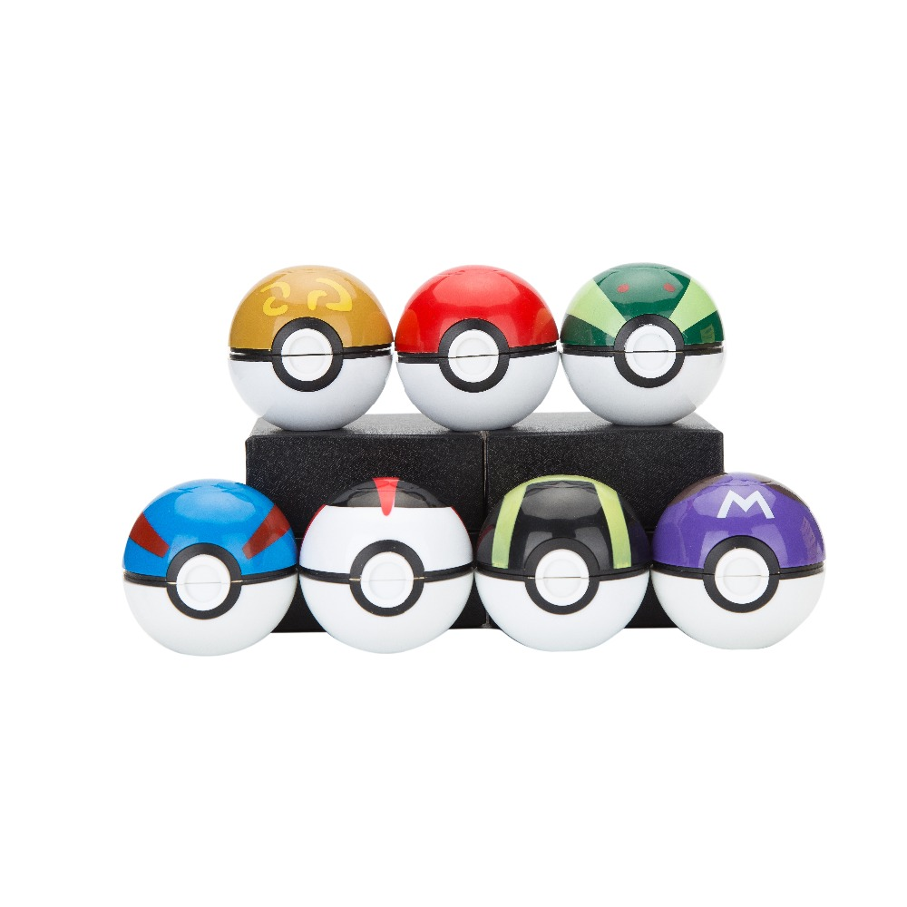 50mm Grinder Nyaste Spel Pokemon och Pokeball Pikachu Tobaks Weed Herb Grinder With Gift Boxs