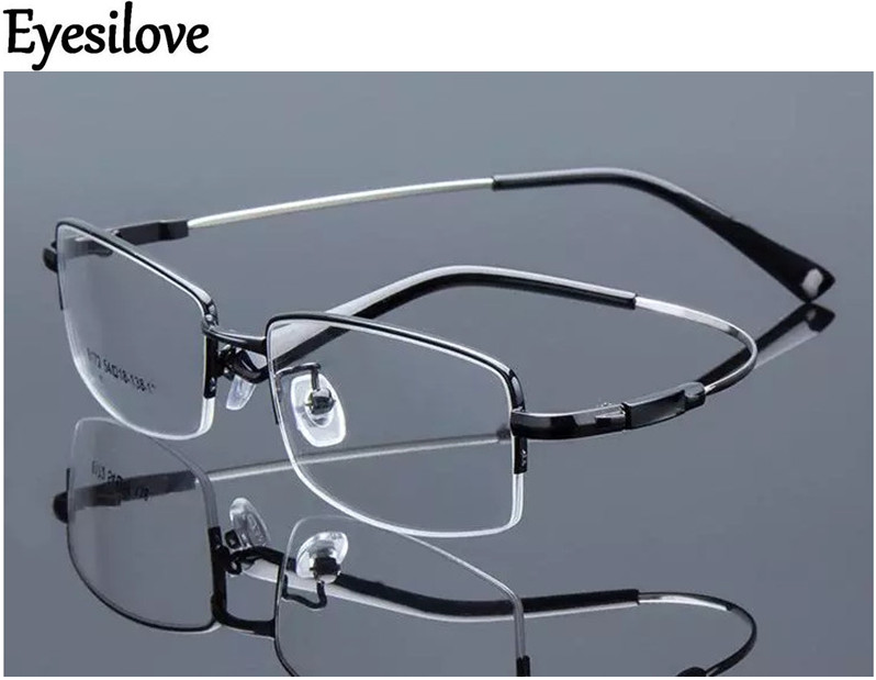 8a47f36d4b0 Best buy Eyesilove Retail 1pcs half rim optical frames metal myopia eyeglasses  frame for men women prescription glasses online cheap