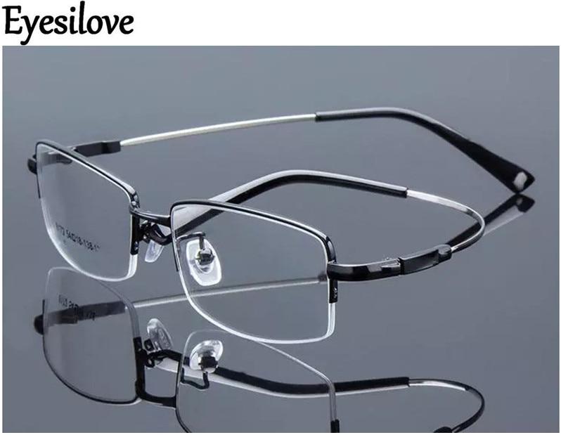 2078d915fd1 Best buy Eyesilove Retail 1pcs half rim optical frames metal myopia  eyeglasses frame for men women prescription glasses online cheap