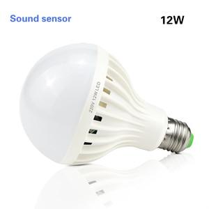 Image 5 - Smart 3 W 5 W 7 W 9 W 12 W E27 220 V Geluid/PIR Bewegingssensor LED lamp licht Inductie Lamp Trap Hal Night Emergency verlichting