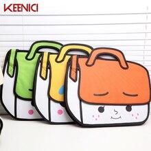 8ea60ec962c8 New Fashion 2d Cute Bags Novelty School Bag 3d Drawing Cartoon Paper Comic  Handbag Women Shoulder