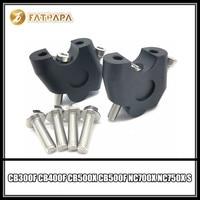 Handlebar Extension Riser Mount Lifting Handle bar Clamp Fit For Honda CB300F CB400F CB500X CB500F NC700X NC750X S