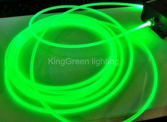 10mX 2mm diameter high quality side glow fiber optic cable transparent solid core optical fiber cable free shipping