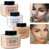 Polvo suelto de banana Control de aceite de larga duración iluminador de maquillaje facial Mineral suave translúcido ajuste en polvo cosméticos de belleza