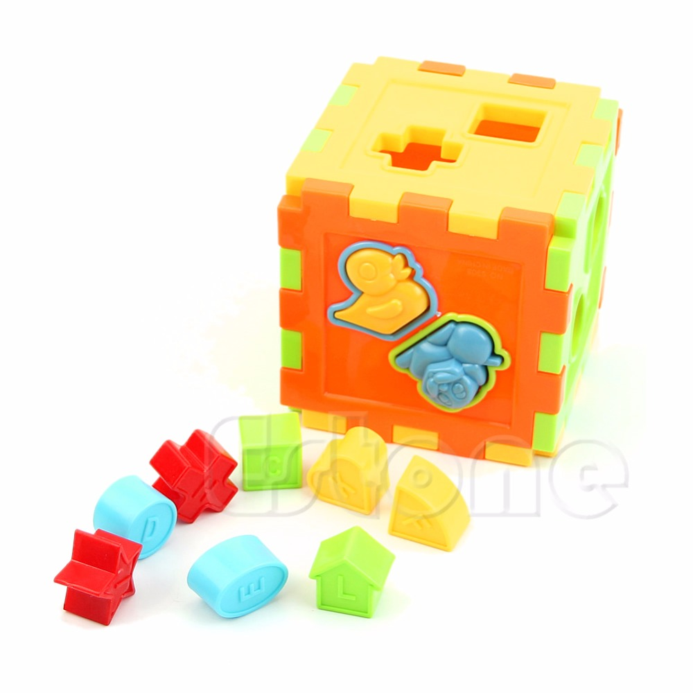 Kids Baby Colorful Block Magic Cube Toys Educational Shape Sorting Great Gifts yj yongjun moyu yuhu megaminx magic cube speed puzzle cubes kids toys educational toy