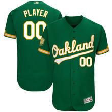 4da0a1782 Custom Men s Oakland Athletics Green flex base Any Name Number Baseball  Jersey(China). 13 Colors Available