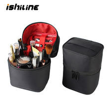 Large Capacity Cosmetic Storage Bag Waterproof Toiletry Bag Travel Makeup Organizer Make Up Brush Eyebrow Pencil Holder Pouch travel toiletry storage bag brush organizer pencil case packing organizer travel accessory