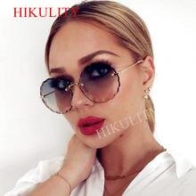 a0dc65645c1 Rimless Round Sunglasses 2018 Women Newest Diamond Cutting Alloy Frame Sun  Glasses Female Summer Shades Clear Lens Eyewear