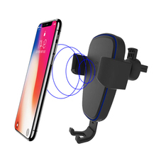 wireless car fast charger phone holder stand for apple iphone x 8 plus Samsung Galaxy s9 S8 S7 noet 8 support cellular telephone цена 2017