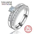 100% Pure Silver Rings for Women Wedding Rings Engagement CZ Diamond Jewelry Bijoux Ring Vintage Bague Accessories AR124