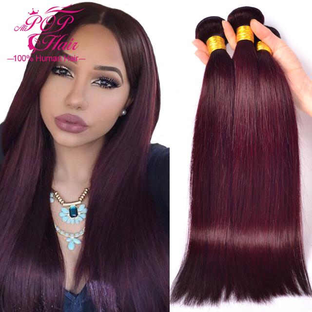 Burgundy Brazilian Hair Weave Bundles 12pcs/lot Brazilian Virgin ...
