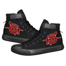 High-Q Unisex Anime Cos Naruto Canvas Shoes Uchiha Itachi Akatsuki Casual plimsolls canvas shoes rope soled