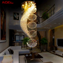 Large retro modern villa ladder staircase living room suspended ceiling innovative Ceiling Lights