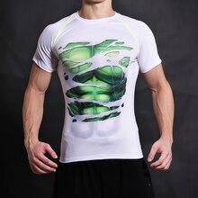 Зеленый гигант футболка 3D печатных Футболки Для мужчин с коротким рукавом Косплэй костюм DC Плёнки Slim Fit Фитнес Костюмы Топы корректирующие Мужской