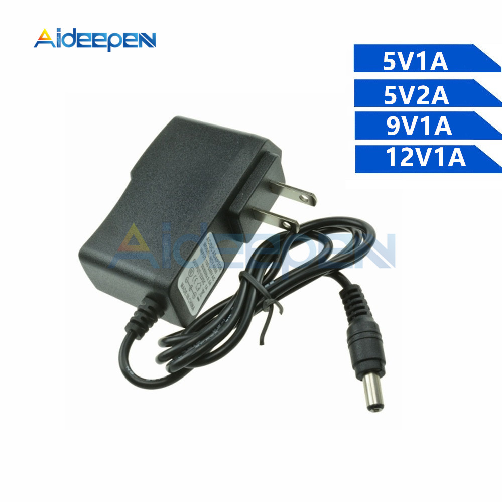 5V <font><b>9V</b></font> 12V Power <font><b>Adapter</b></font> Supply Charger 1A 2A 5.5X2.1MM Power <font><b>Adapter</b></font> Cable Length 1M image